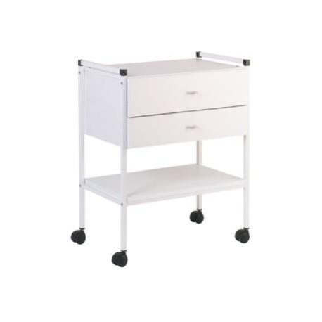 gu ridon carina laqu 2 plateaux stratifi 600x400mm 2 tiroirs. Black Bedroom Furniture Sets. Home Design Ideas