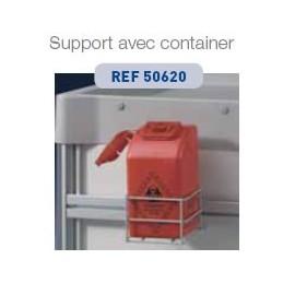 Support container à aiguilles pour chariot médical multifonctions