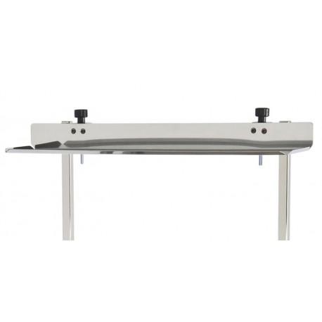 tablette en inox 18 10 dim 615x140 pour r hausse de chariot tourinox. Black Bedroom Furniture Sets. Home Design Ideas
