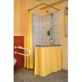 rideau et cabine de douche protection claboussures salle. Black Bedroom Furniture Sets. Home Design Ideas