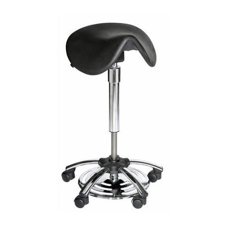 tabouret selle ergonomique hauteur r 233 glable commande au pied