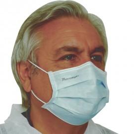 Masque chirurgical 3 plis de Type II à élastiques (les 50)