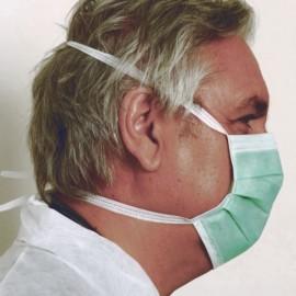 Masque chirurgical 3 plis de Type II à lacets PLM02 (les 50)