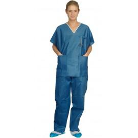 Pyjama bloc operatoire jetable usage unique non tissé - tenue de bloc operatoire