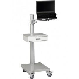 Chariot informatique à roulettes 1 tiroir et 1 tablette