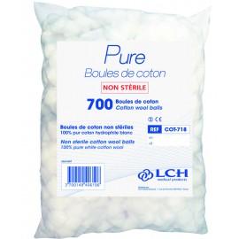 Boules de coton hydrophile, le sachet de 700 boules