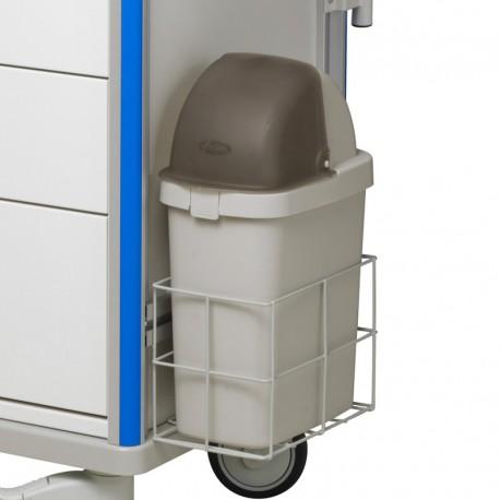 Poubelle avec couvercle pour chariot m dical multifonctions - Couvercle pour poubelle automatique ...
