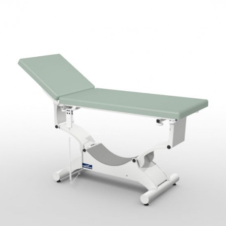 Divan d'examen électrique Promotal QUEST sur patins, sellerie plate 65 cm