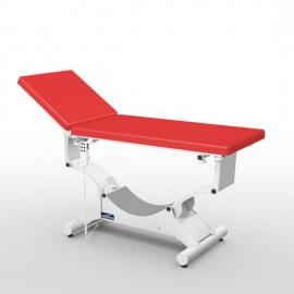 Divan d'examen électrique Promotal QUEST déclive proclive sur patins sellerie plate 65 cm
