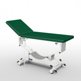 Divan d'examen électrique Promotal QUEST sur roulettes escamotables sellerie plate 65 cm