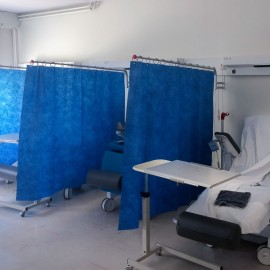 Rideau jetable hopital