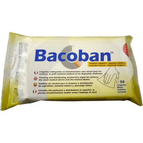 Lingettes désinfectantes BACOBAN sans alcool et effet rémanent
