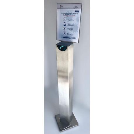 Borne distributeur pour gel hydroalcoolique avec pédale
