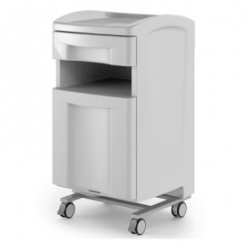 Meuble assistant médecin Carina 2 tiroirs, bandeau Gris