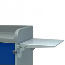 Tablette rabattable pour chariot de distribution du linge