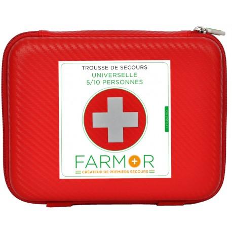 Trousse de secours universelle FARMOR Multirisques 5 à 10 personnes