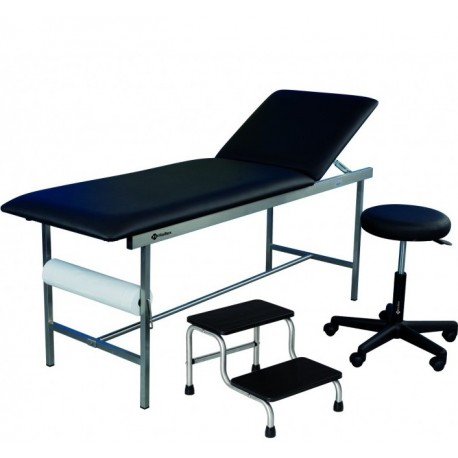Kit mobilier de cabinet médical Holtex divan + tabouret + marchepied 2 marches