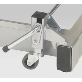Support roulettes escamotables pour fauteuil Carina Médical 625 HVE