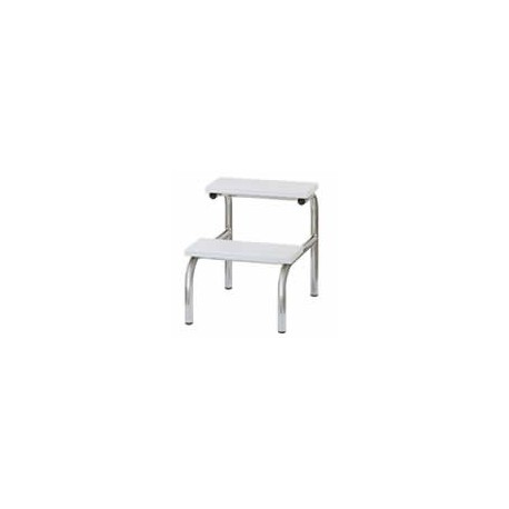 Marchepied Carina 56 structure Chromée, marches en ABS Blanc
