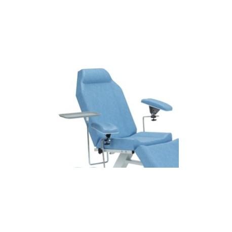 Plateau support en inox pour fauteuil de prélèvement Carina Médical