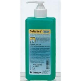 Gel hydroalcoolique B Braun Softalind ViscoRub 1L à pompe