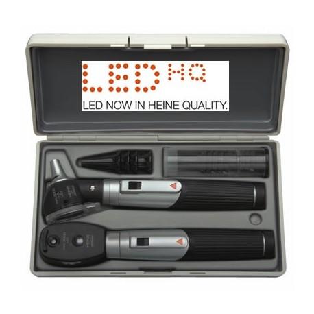 Trousse HEINE Mini 3000 LED Ophtalmoscope et Otoscope F.O. en étui rigide