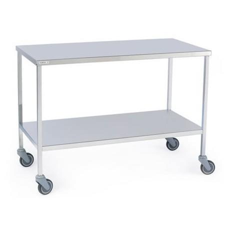 Ref 11860 : Table à instruments charges lourdes 2 plateaux 1180x600