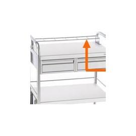 Porte flacon sur la Longueur amovible 6 cases pour guéridon 750x500mm