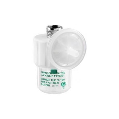 Flacon de sécurité et filtre antibactérien plastique