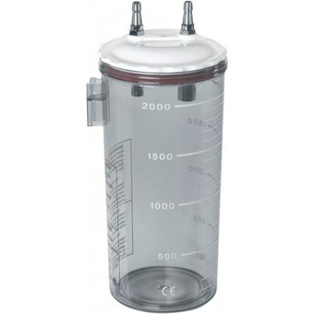 Bocal d'aspiration 2L avec couvercle plastique à pression