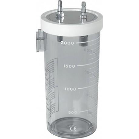 Bocal d'aspiration 2L avec couvercle à pression en silicone
