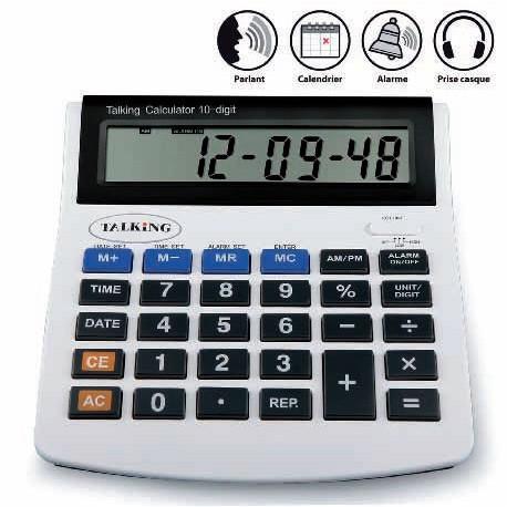Calculatrice parlante gros chiffres Hestec