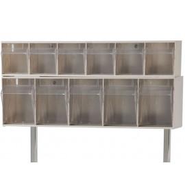 Tiroirs plastique basculants 11 tiroirs pour réhausse