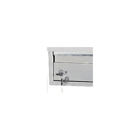 Fermeture à clé adaptable sur tiroirs Tourinox Inox