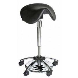Tabouret selle ergonomique réglable au pied