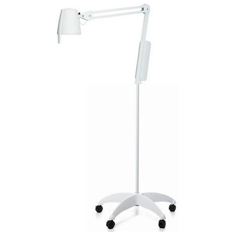 Lampe d'examen medical 35 Watts LUXO sur pied roulant.