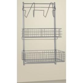 Supports muraux modèle 3 niveaux 32 M présenté ici avec pour paniers et accessoires de stérilisation