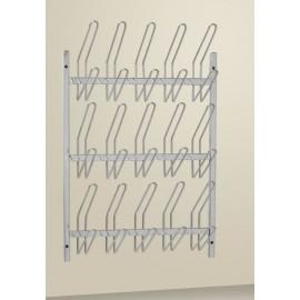 Porte-sabots de bloc opératoire mural 15 ou 30 paires