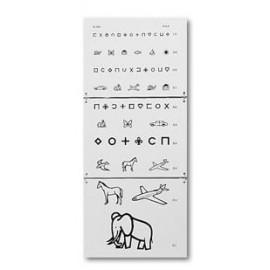 Echelle optométrique murale : Test pour enfants lecture directe à 5 m