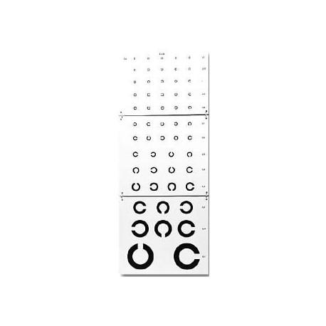 Echelle optométrique : Test de LANDOLT pour illettrés - Lecture directe à 5m