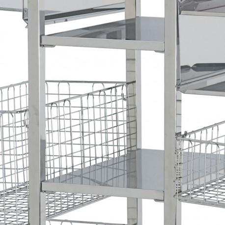 Etagère centrale pour chariot modulaire de bloc opératoire
