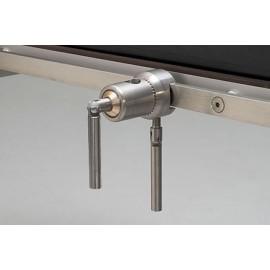 Clameau rotatif Reison 10304 pour table d'opération - Fixation sur rail par vis de serrage