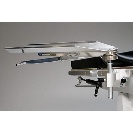Appui bras pivotant, clameau blocage rapide pour table d'opération