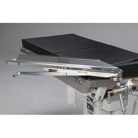 Appui bras pivotant, clameau serrage rapide pour table d'opération