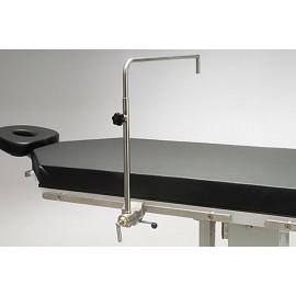 Cadre d'anesthésie avec clameau rotatif pour table d'opération