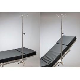 Tige à perfusion avec clameau rotatif pour table d'opération