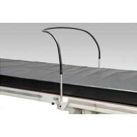 Arceau flexible d'anesthésie pour table d'opération, avec clameaux de fixation