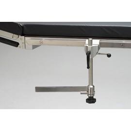 Rallonge de rail angulaire orientable pour table d'opération
