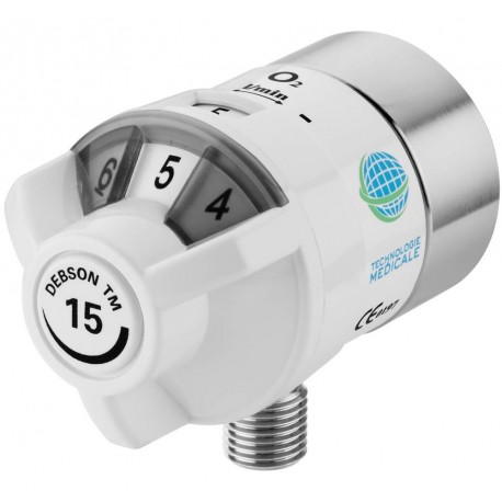 Débitmètre oxygène Technologie Médicale DEBSON 15 L montage direct sur prise