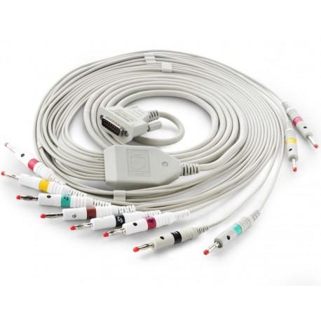 Câble patient 10 fils pour électrocardiographes EDAN